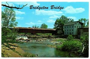 Bridgeton-Indiana-Postcard-Bridgeton-Covered-Bridge-Over-Big-Raccoon-Creek-76758