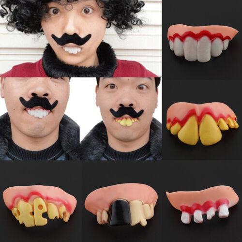 5PCS Ugly Funny Goofy Gag Fake False Teeth Dentures Costume 2018 Halloween Party