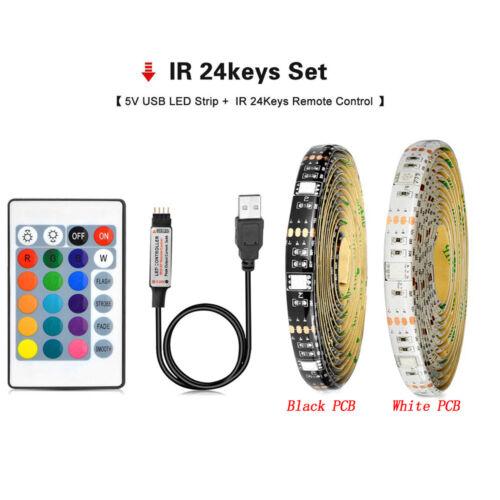 5V LED TV USB Backlight Computer 5050 RGB LED Light Strip Background Light Kit