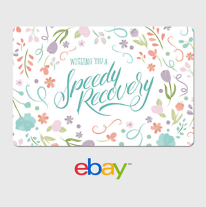 Ebay Digital Gift Card Get Well Soon Speedy Recovery Email