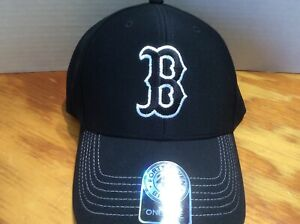 7c88fbc30a9 Details about Boston Red Sox 47 Brand BLACK Clean Up Low Profile Adjustable  Strap Dad Hat