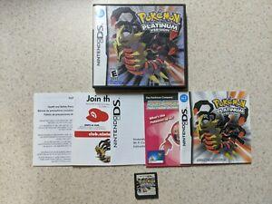 AUTHENTIC Pokemon Platinum Version DS Complete in Box CIB ALL INSERTS USA WATA