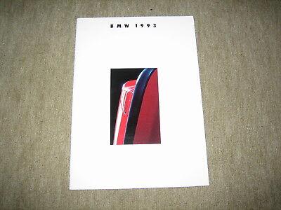100% Wahr Bmw 3er / 5er / 7er / 8er / M5 Programm Prospekt Brochure Von 2/1992, 38 Seiten