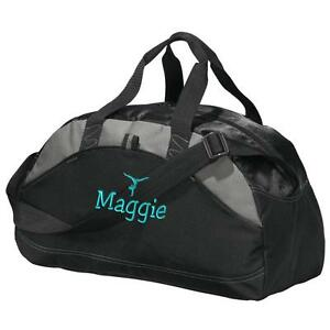 ed3a627bb6e2 Image is loading Gymnastics-Duffel-Bag-Personalized-Gym-Bag-Embroidered- Duffle-