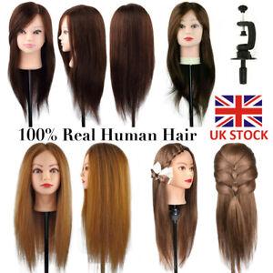 Cabeza-maniqui-Reino-Unido-60CM-100-cabello-humano-Salon-Peluqueria-Entrenamiento-Muneca-amp