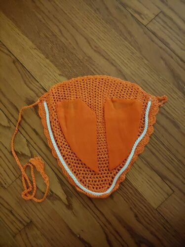 Orange Soft Cotton Horse Fly Veil//Bonnet