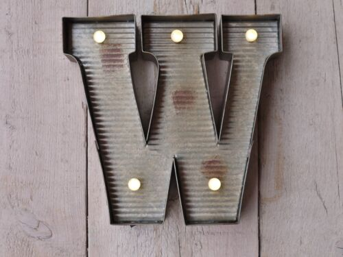 Carnival Style Grey Metal LED Light Up Fairground Alphabet Letters /& Symbols