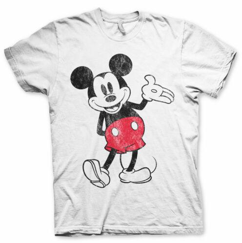 Offiziell Lizenziert Mickey Mouse Distressed Groß /& Hoch 3XL,4XL,5XL Herren T