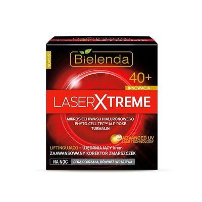 BIELENDA LASER EXTREME Antifalten Nachtcreme mit Hyaluronsäure +40 50 ml