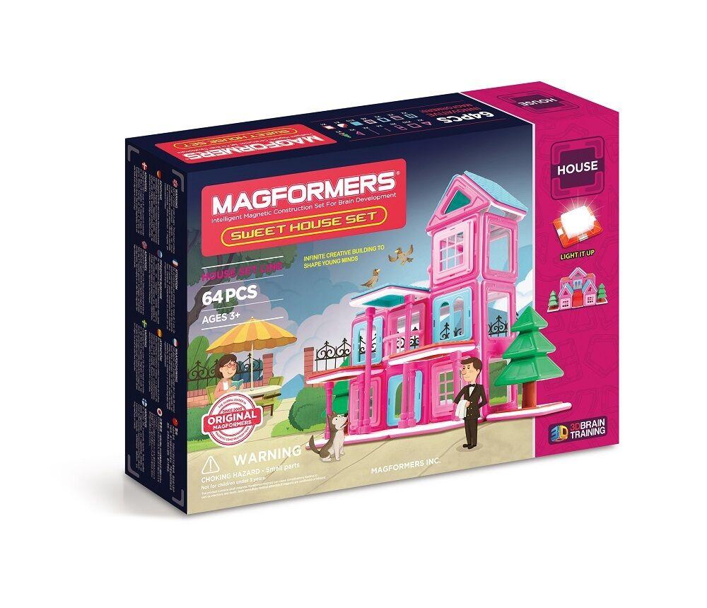 MAGFORMERS - 274-62 Sweet House Set Magnet - Konstruktionsmaterial