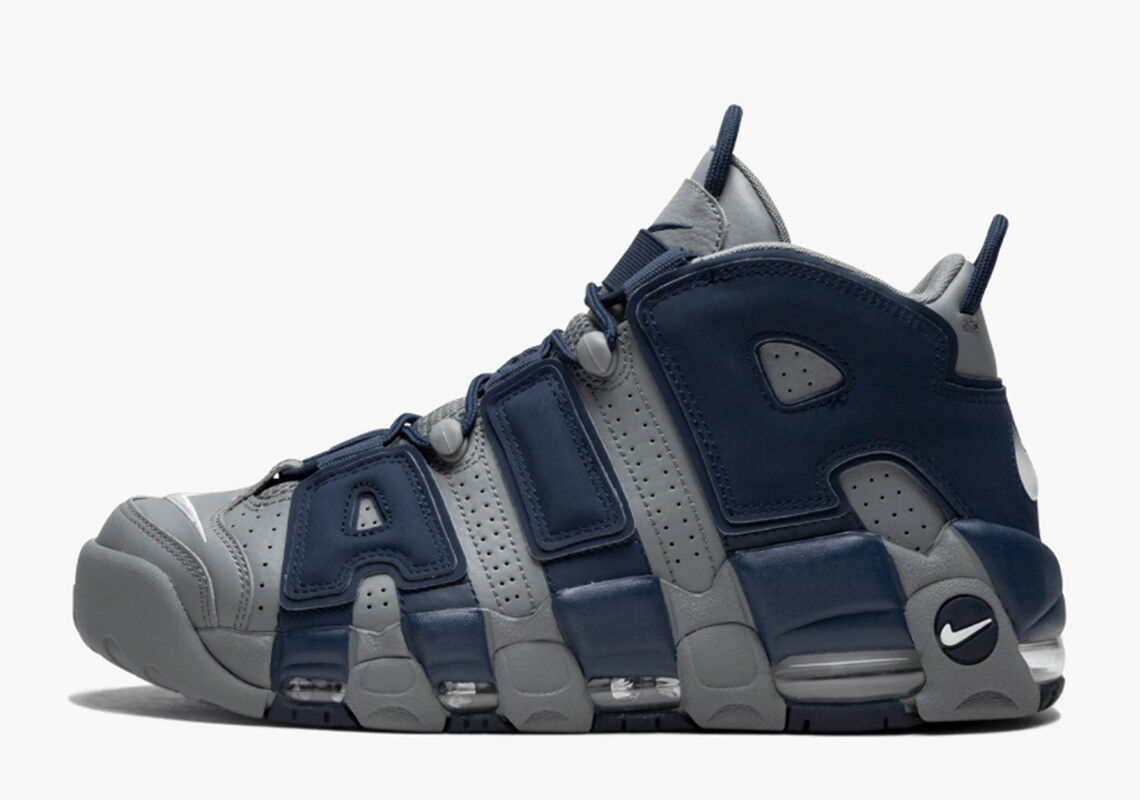 2018 Nike Air More Uptempo  HOYAS  '96 SZ 12 Cool Grey White Navy  921948-003