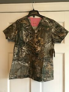 13359c8c1f Image is loading Carhartt-Realtree-Camo-Scrub-Top-Shirt-Womens-Small