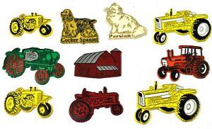 Set-De-Material-10-Imanes-Ee-uu-Imanes-de-Nevera-Antiguo-Tractores-Farm-Granja