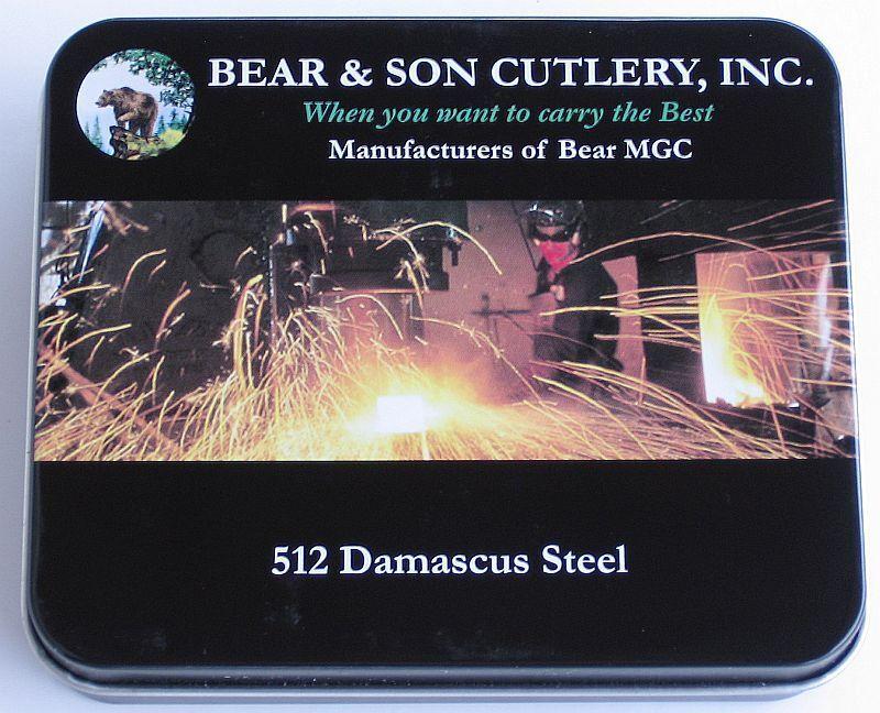 Bear & Son Cutlery sideliner damastmesser con 512 lagen nuevo en el embalaje original caja de regalo