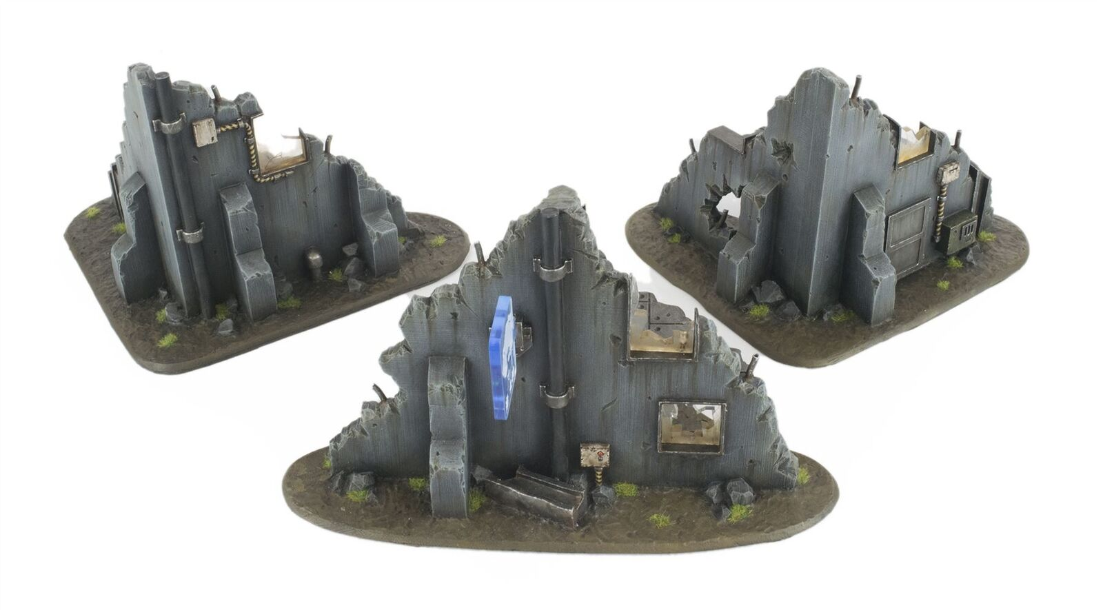 WWG Ruined Buildings Barricades & & & Rubble Set – 28mm Scenery Warhammer Terrain afbc38