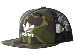 ce5d9872b41 Image is loading adidas-Originals-Trucker-Cap-Camouflage-Snapback-Mesh- Unisex-