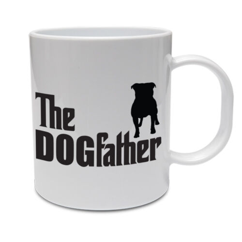 Bull Terrier THE DOGFATHER Funny Staffie Novelty Themed Ceramic Mug