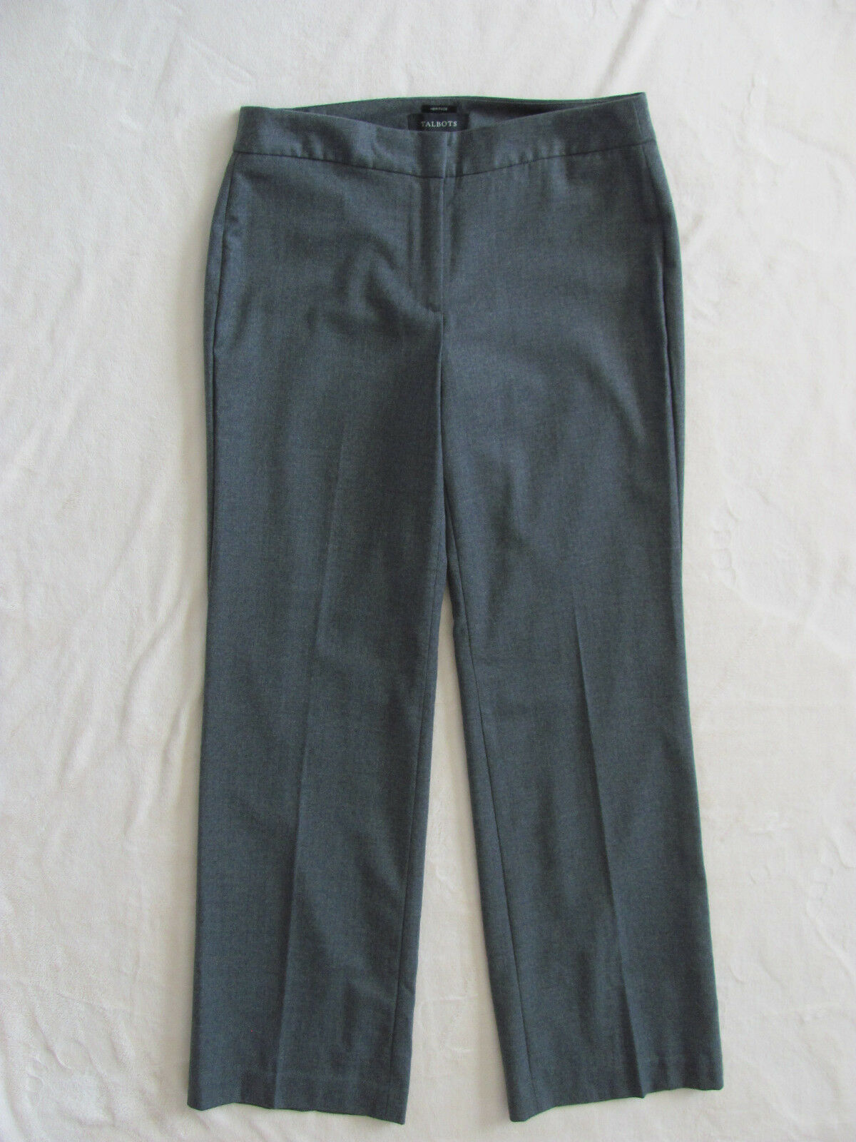 Talbots Heritage Lined Wool Blend Pants- Dressy-Shadow Heather-Size 4 -NWT  129