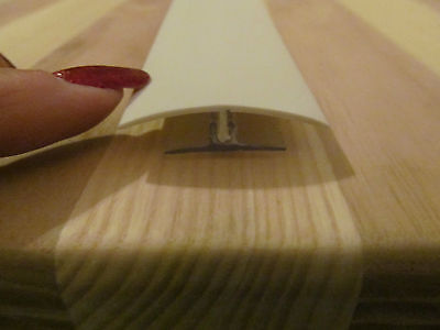 """2 @ 92/"""" IVORY Rigid Plastic 1/"""" Ceiling Sidewall Batten Snap Trim RV Trailer"""