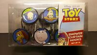 Lot 12 Disney Pixar Toy Story Shower Curtain Hooks Buzz Woody Rex Slinky Alien