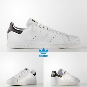 Adidas Stan Smith Athletic Running Shoes White Black White AQ0438 SZ ... cc54fd3d99427