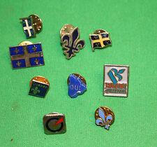 vintage lot of 9 pin back Quebec separate OUI bloc Quebecois Parti Quebecois