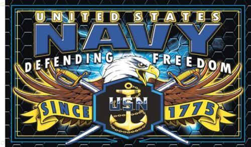US NAVY  STRIKE FORCE 3 X 5 MILITARY FLAG wall banner #593 biker UNITED STATES