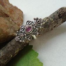 Granat, rot, nostalgisch, ausgefallen, Ring, Ø 18,0 mm, 925 Sterling Silber, neu