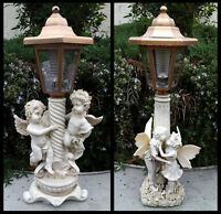 2-pack Garden Decor Solar Girl And Boy Fairy Or Twin Boy Angels Sculpture Lights