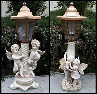 2-pack Garden Decor Solar Girl And Boy Fairy Or Twin Boy Angels Sculpture Lights