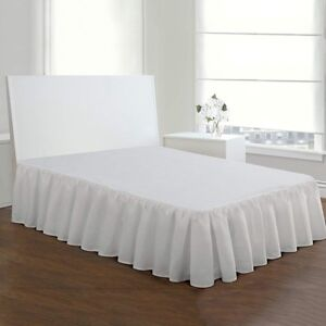 Bed-Skirt-Stretchy-Fitted-Cover-Solid-Color-Bed-Base-Wrap-Bedspread-Dust-Ruffle