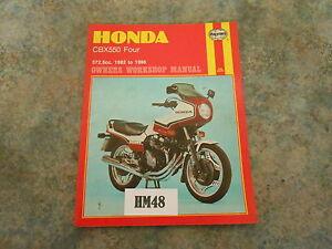 honda cbx550 haynes manual hm48 ebay rh ebay co uk honda cbx 550 f2 workshop manual service manual honda cbx 550 f