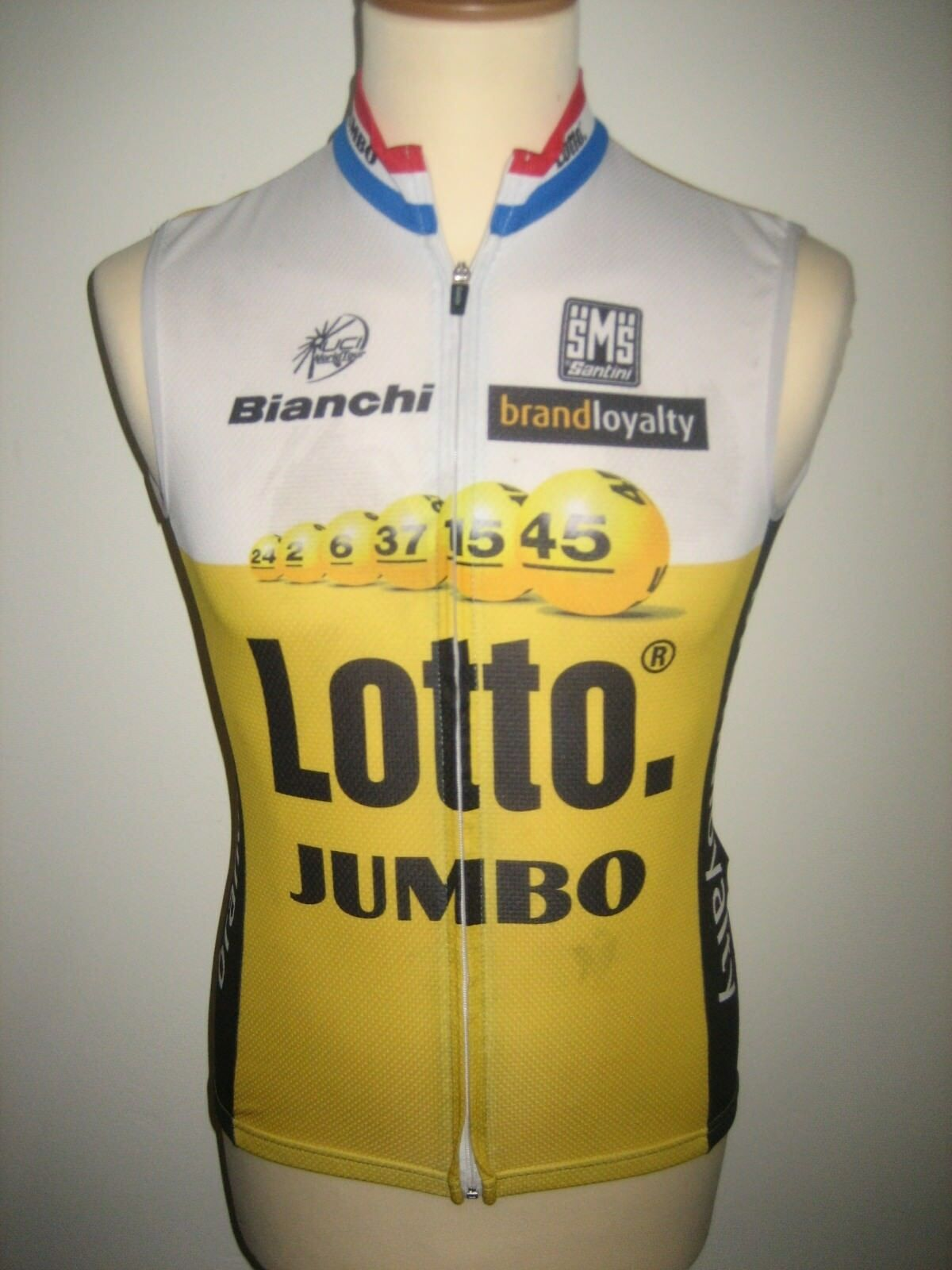 Lotto Jumbo WORN by RIDER jersey shirt cycling LottoNL maillot thermo size S