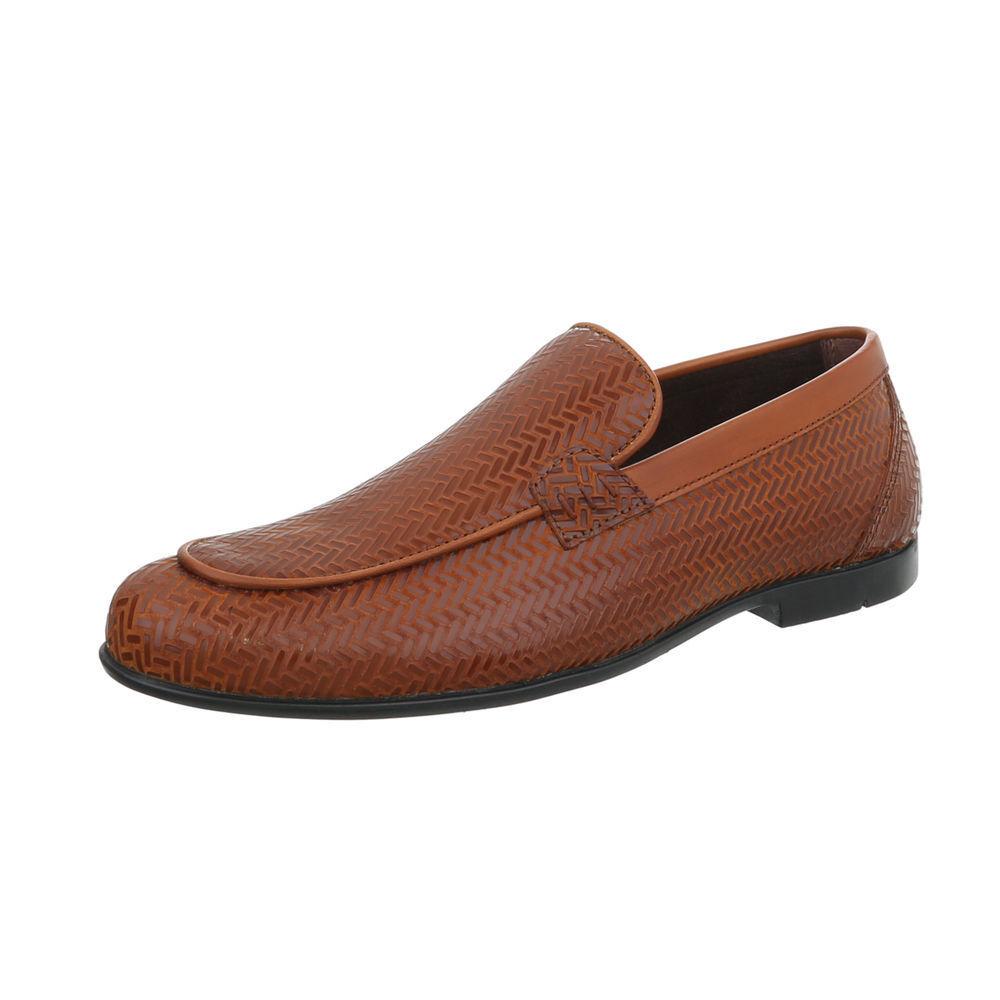 Cuero auténtico zapatillas zapato bajo zapatos caballero de diseño nuevo talla 41 cámel 4303