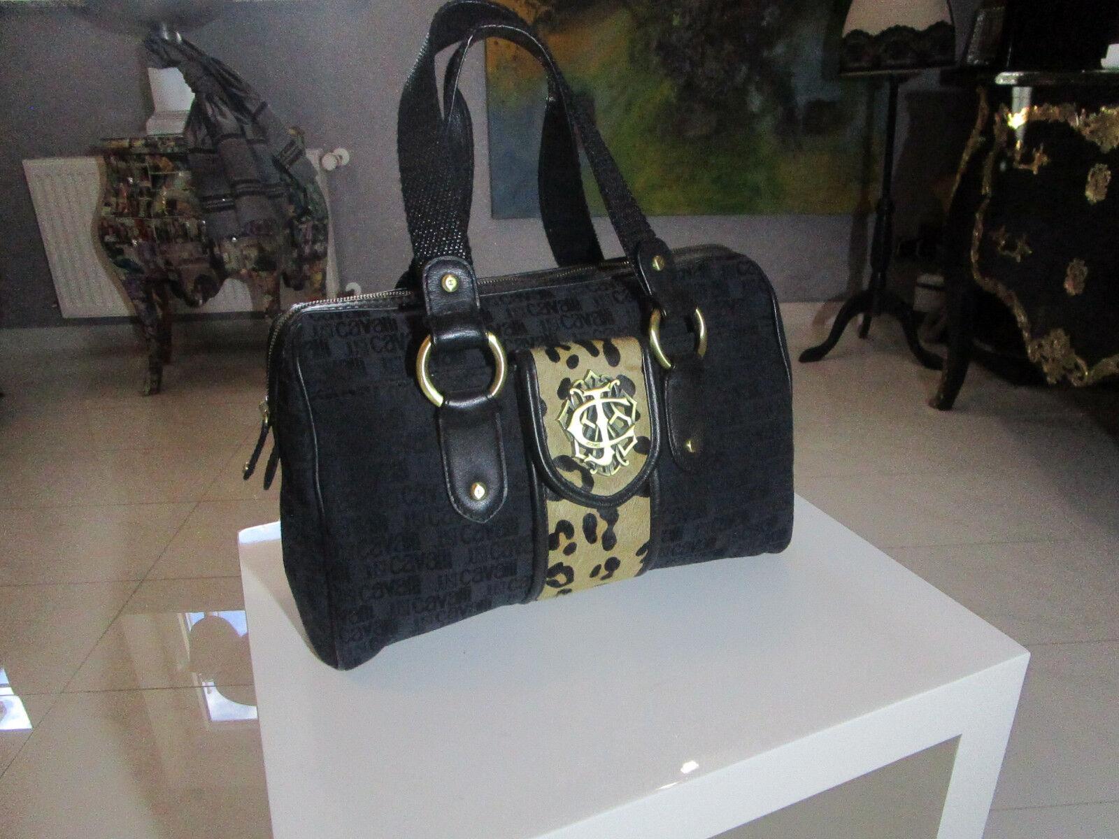 Damen Handtasche von   Just Cavalli   ,braun , schwarz | Spielzeugwelt, fröhlicher Ozean