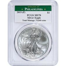 2015 P American silver Eagle PCGS MS70 - Mintage Of Only 79,640