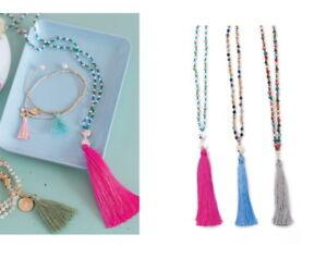 Poppy-3er-Set-Halskette-Armband-Overbeck-And-Friends-Steine-Perlen-Troddel-bunt