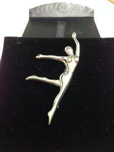 Brooch-Silver-925-Jewellery-Beautiful-Elegant-Ballet-Dancer-Gymnast-Ladies-Gift