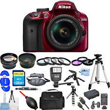Nikon D3400 DSLR Camera with 18-55mm Lens (Red)!! MEGA BUNDLE BRAND NEW!!