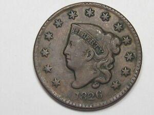 Better-Grade-1826-US-Matron-Coronet-Head-Large-Cent-22