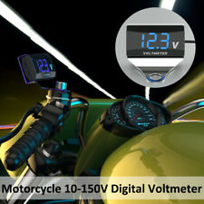 Led Motorcycle Dc 10 150v Digital Voltmeter Display Waterproof Voltage Meter Us