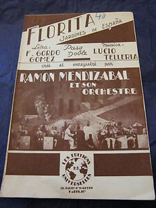 Partitura-Florita-Ramon-Mendizabal-El-primero-Cana-Melfi-Music-Sheet