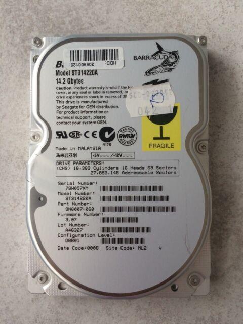 NEU: Seagate Barracuda ATA-/IDE-Festplatte - ST314220A