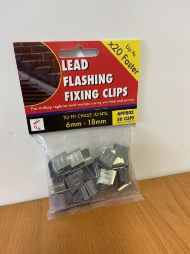 Lead Flashing Fixing Clips Pack Of 50 Hall Clips