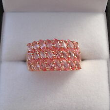 1.88ct Genuine Sri Lankan Padparadscha Sapphire Rose Gold Band Ring