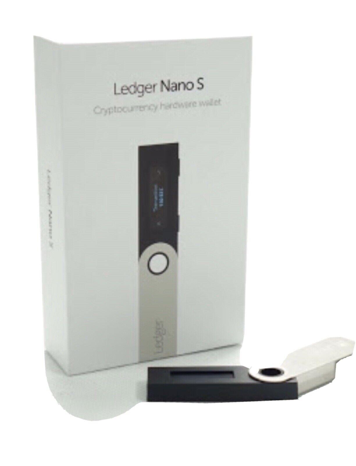 Ledger Nano S Bitcoin Ethereum Crypto Altcoin Litecoin Ripple Wallet NEW SEALED 1