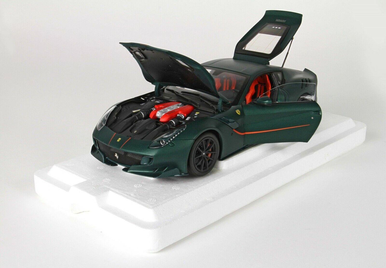 BBR Ferrari F12 TDF Matt grön tärningskast öppnaings Brand New Rare
