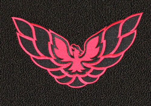 pair of front Black Floor Mats 1993-2002 Firebird Embroidered Logo in red NEW