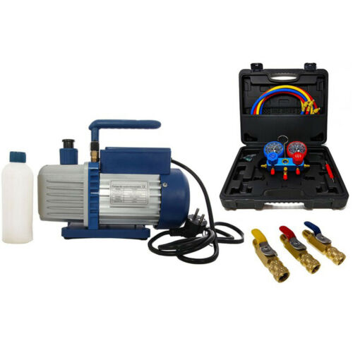 monteurhilfe r32//r410a bala válvulas Bomba de vacío bajo presión bomba 70l incl