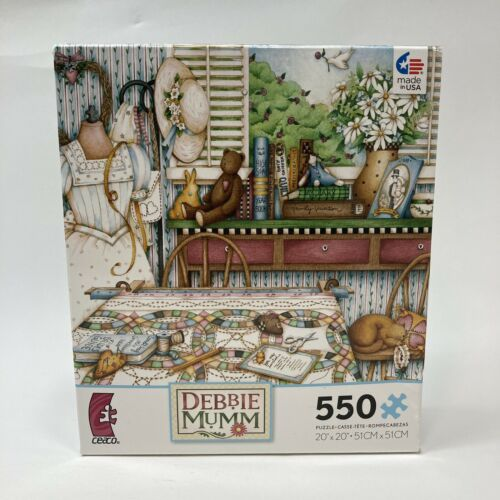 Details about  /Debbie Mumm 550 Piece Jigsaw Puzzle Ceaco Wedding Ring Quilt 2394-S Quilting USA